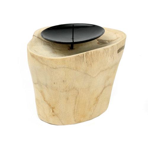 Bazar Bizar Kynttilänjalka - Natural Musta - 10 cm