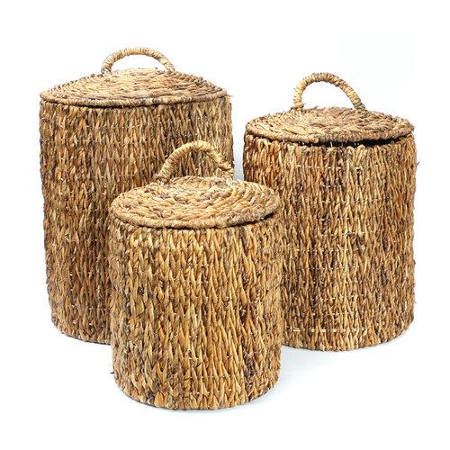 Bazar Bizar The Banana Laundry Baskets - Natural - SET3
