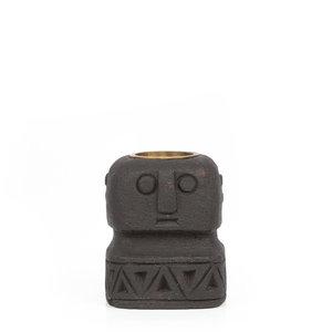 Bazar Bizar Sumba Kivipatsas Kynttilänjalka - Musta - 15 cm