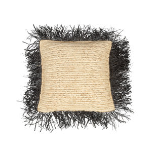 Bazar Bizar The Raffia Cushion cover Square - Natural Black - M