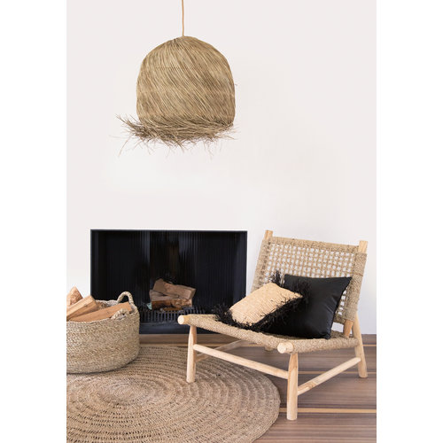 Bazar Bizar The Raffia Cushion cover Square - Natural Black - M