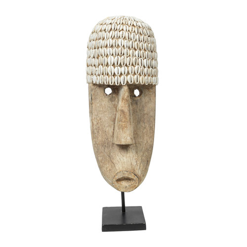 The Cowrie Mask on Stand - Large