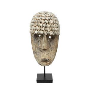 Bazar Bizar Cowrie Mask Jalustalla - Natural - 40 cm