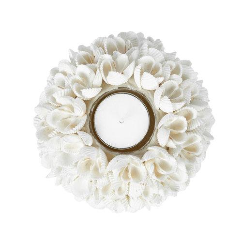 Flower Power Tuikkukippo - Valkoinen - 12 cm