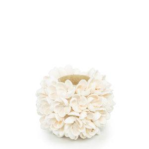 Bazar Bizar Flower Power Tuikkukippo - Valkoinen - 9 cm