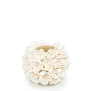 Flower Power Tuikkukippo - Valkoinen - 9 cm