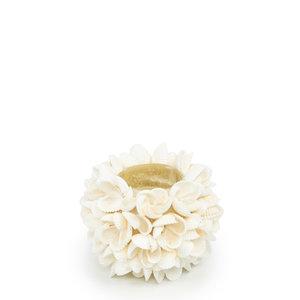 Flower Power Tuikkukippo - Valkoinen - 7 cm