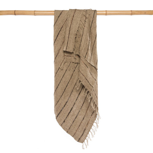 S'il vous Torkkupeitto - Natural Musta - 170 x 130 cm