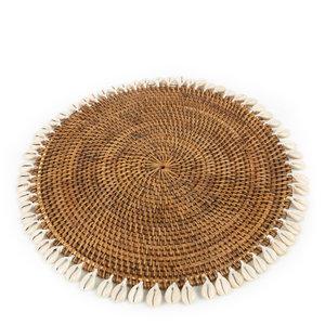 Colonial Shell Tabletti - Natural Ruskea - 42 cm