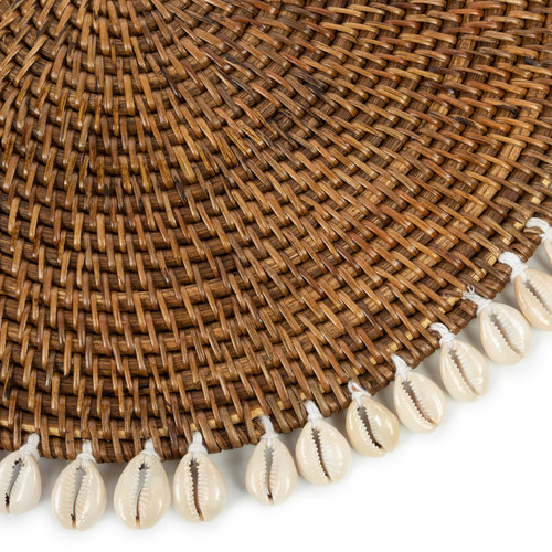Bazar Bizar The Colonial Shell Placemat - Natural Brown