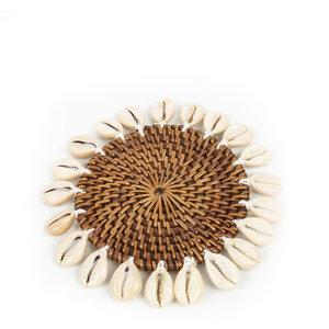 Bazar Bizar Colonial Shell Lasinalunen - Natural Ruskea - 16 cm