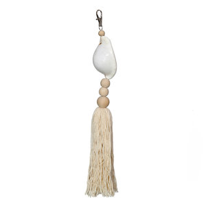 The White Cowrie Keychain