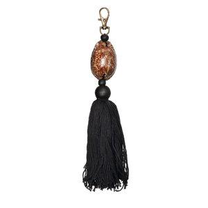 Bazar Bizar Cowrie Avaimenperä - Musta Ruskea - 20 cm