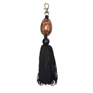 The Brown and Black Cowrie Keychain