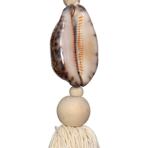 Bazar Bizar The Natural and Brown Cowrie Keychain