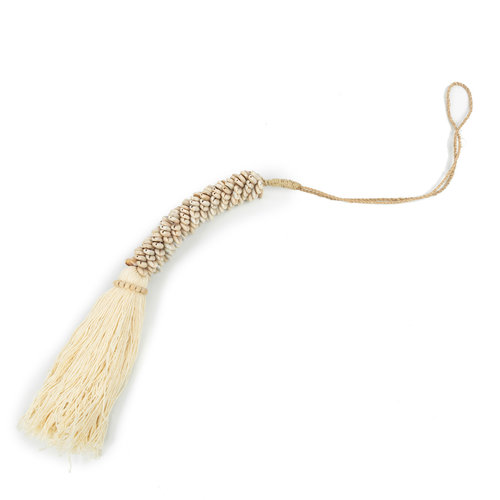 The Cowrie & Cotton Tassel