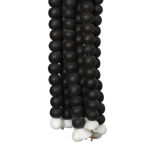 The Wooden Beads Tassel - Black