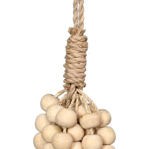 Bazar Bizar The Wooden Beads Tassel - Natural