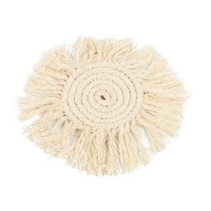 Macrame Lasinalunen - Valkoinen - 10 cm