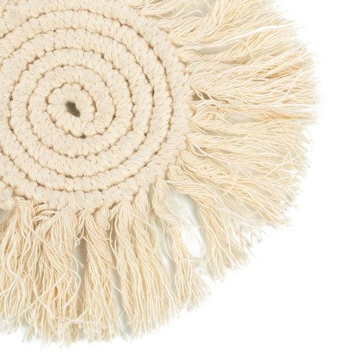Bazar Bizar Macrame Lasinalunen - Valkoinen - 10 cm