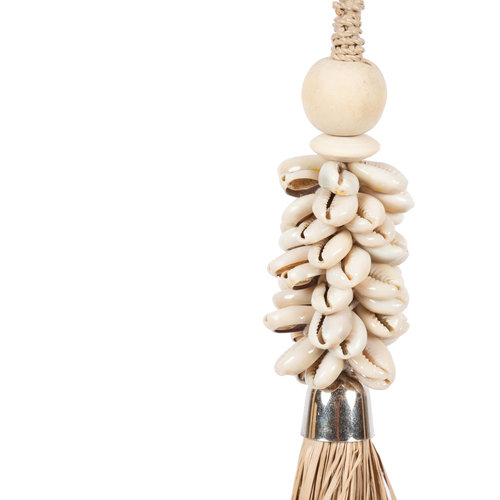 The Cowrie and Raffia Tassel - Natural