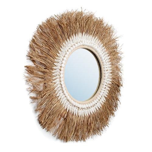 The Raffia Ginger Mirror -  Natural