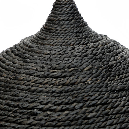 The Abaca Hoola Pendant Lamp - Black - L