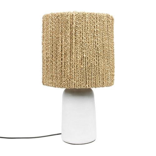 The Chalki Table Lamp - White Natural