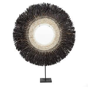 Bazar Bizar Nassau Hoop Hyllykoriste Jalustalla - Musta - 55 cm
