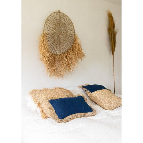 The Saint Tropez Cushion - Blue Natural - Rectangular
