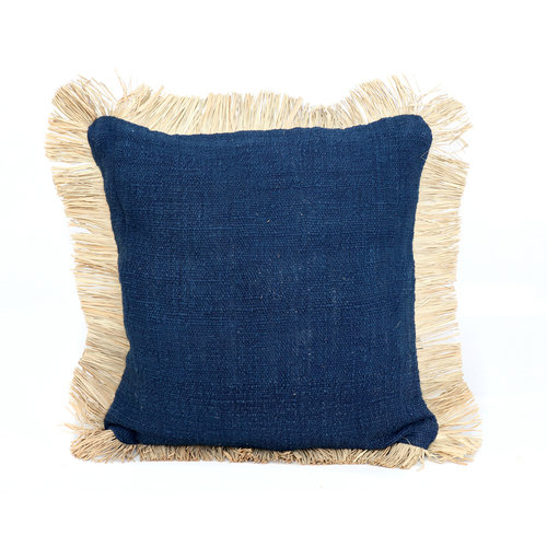 Bazar Bizar The Saint Tropez Cushion cover - Blue Natural - 50 x 50 cm