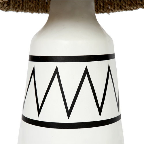 Bazar Bizar The Santorini Table Lamp - White Black and Natural