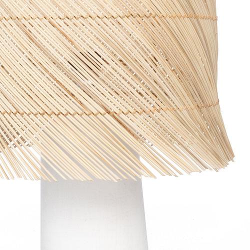 Bazar Bizar The Rattan Table Lamp - White Natural