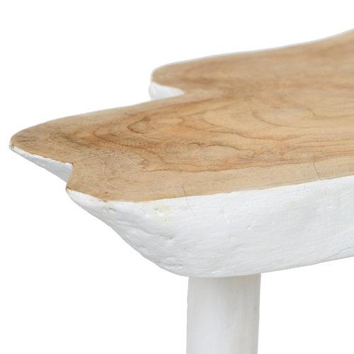 Bazar Bizar Organic Sivupöytä - Natural Valkoinen - 46 cm