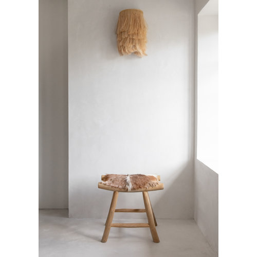 The Island Comfy Stool - Natural Brown