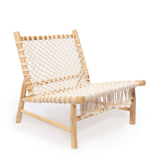 Bazar Bizar The Island Rope One Seater - Natural White