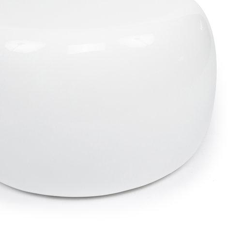 Bazar Bizar High Gloss Sivupöytä - Valkoinen - 72 cm