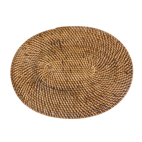 Bazar Bizar Colonial Oval Tabletti - Natural Ruskea - 41 x 31 cm