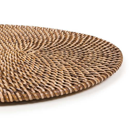 Bazar Bizar The Colonial Oval Placemat - Natural Brown