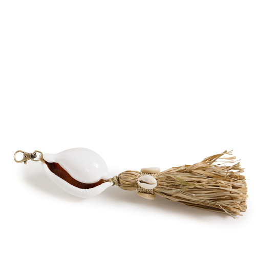 Bazar Bizar The Kubu Keychain - White Natural