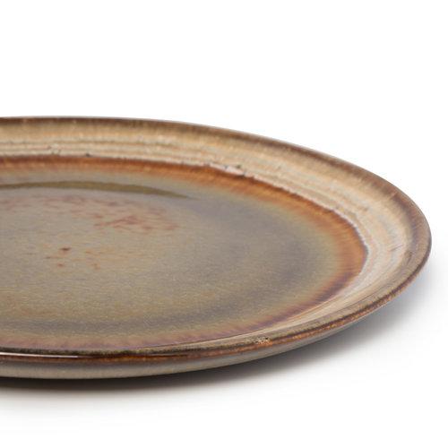6 kpl Comporta Lautanen - Natural Ruskea - 23 cm