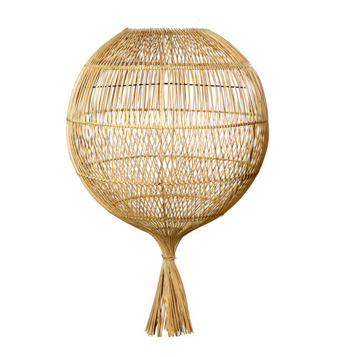 The Rattan Wonton Floor Lamp - Pendant - Natural
