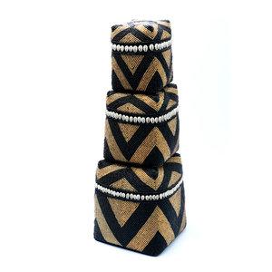 The Beaded Basket Cowrie Diamond High 3 kpl