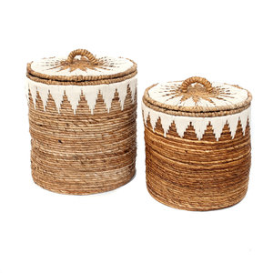 The Banana Stitched Laundry Baskets 2 kpl