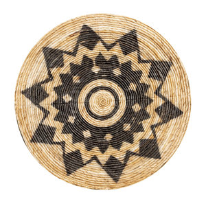 Bazar Bizar Aztec Plate Seinäkoriste - Natural Musta - 92 cm
