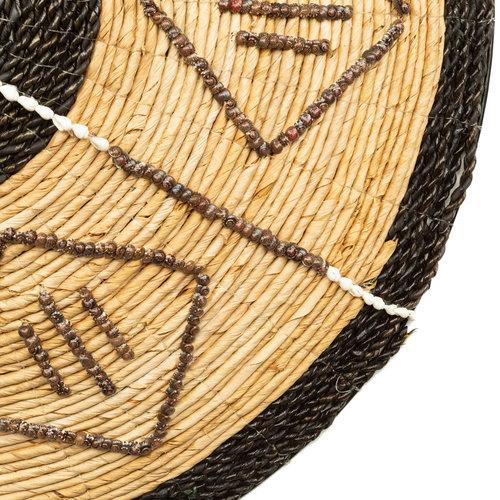Bazar Bizar Cozumel Plate Seinäkoriste - Natural Musta - 72 cm