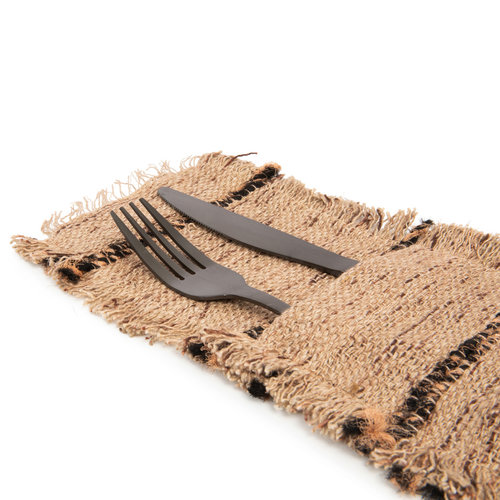 The Oh My Gee Cutlery Holder - Beige Black - Set of 4