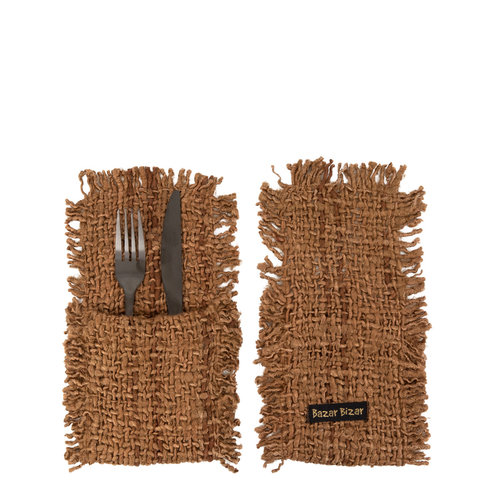 The Oh My Gee Cutlery Holder - Brown - Set of 4
