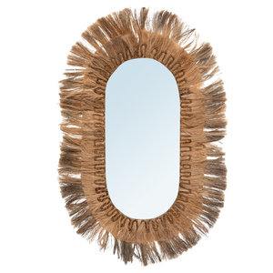 Bazar Bizar Oval Peili - Natural - 147 cm