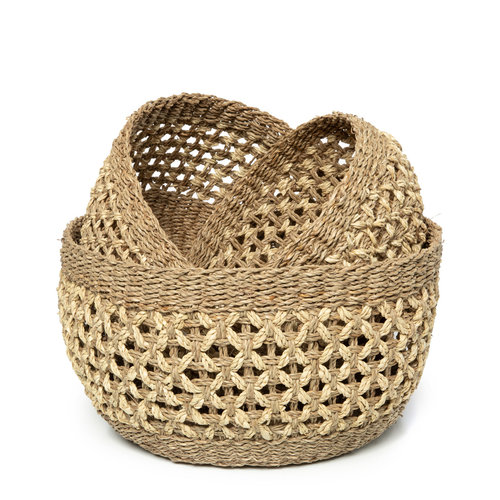 Bazar Bizar The Phu Quoc Basket - Natural - Set of 3